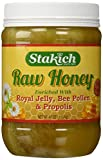 Stakich ROYAL JELLY BEE POLLEN PROPOLIS Enriched RAW HONEY 5-LB - 100% Pure, Unprocessed, Unheated -