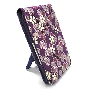 JAVOedge Cherry Blossom Flip Style Case for the Barnes & Noble Nook (Twilight Purple) - First Generation