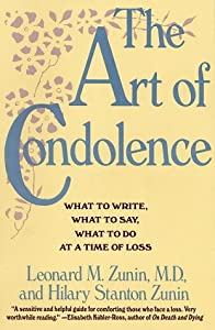 "Cover of ""The Art of Condolence: What to ..."