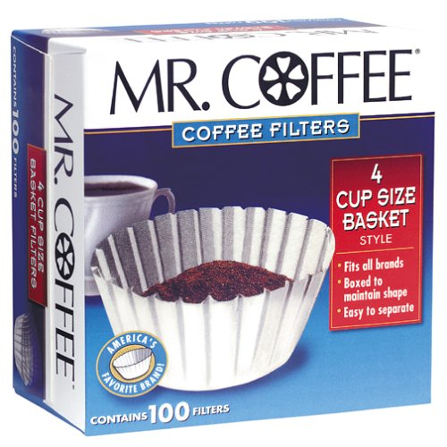 Mr Coffee Basket Coffee Filters 4 Cup White Paper 100