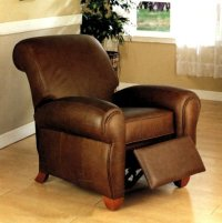 Club Chair: Monterey Brown 100% Italian Leather Sofa Club ...