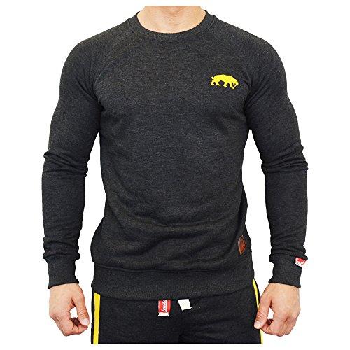 SMILODOX Herren Langarmshirts Slim Fit Sweatshirt