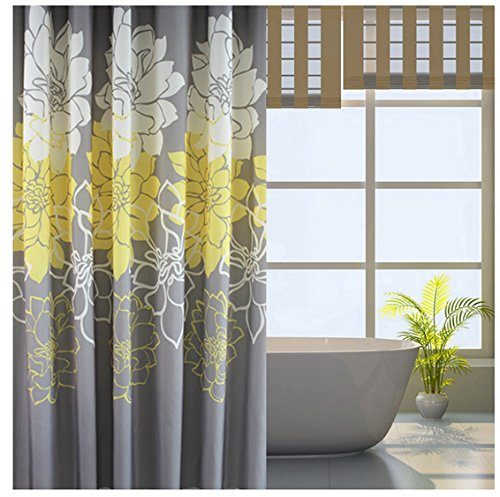 Eforgift Floral Printed Fabric Shower Curtain Polyester Waterproof  eBay
