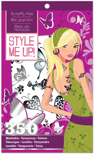 Style Me Up Washable Tattoos- Butterfly Kiss. DanaWares Co