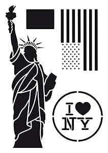 Amazon.com: Artemio 15060011 Stencil A3 Statue of Liberty