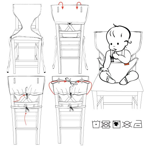 Baby Infant Portable High Chair Harness Cotton Plastic