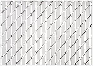 Amazon.com : White Double Wall Bottom Lock Fence Slat for