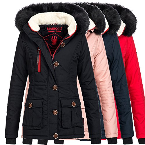 Marikoo-ROSEWATER-Damen-Jacke-Parka-Winterjacke-Mantel-warm-gefttert-XS-XXL-4Farben