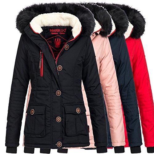 Marikoo ROSEWATER Damen Jacke Parka Winterjacke Mantel warm gefüttert XS-XXL 4Farben