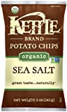 Kettle Brand Organic Potato Chips, Sea Salt, 5-Ounce Bags (Pack of 15)
