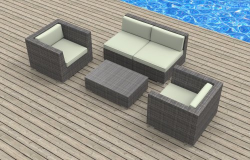 montclair all weather wicker sectional sofa set sofas that recline urban furnishing – belize 5c ultra modern outdoor backyard ...