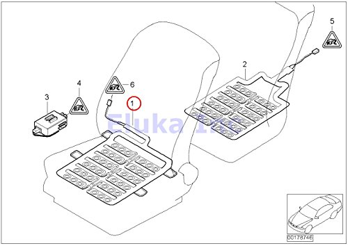 2 x BMW Genuine Seat Sensor Mat For Seat Belt/Srs System