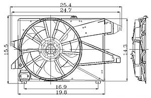Amazon.com: 95-00 FORD CONTOUR Radiator & A/C Condenser
