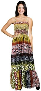 La-Leela-Animal-Tube-Dress-MAXI-SKIRT-Beach-Coverup-Women-PLUS-STRAP-Multicolour