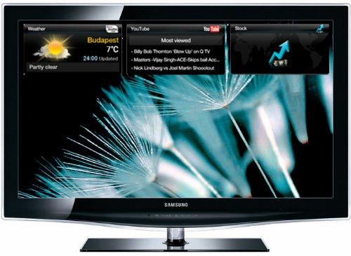 Samsung LE 40 B 650  101,6 cm (40 Zoll) 16:9 Full-HD Crystal TV LCD-Fernseher, integrierter DVB-T/DVB-C Tuner, 100Hz, 4x HDMI, 2x USB-Video, Internet@TV, Content Library (1G) schwarz
