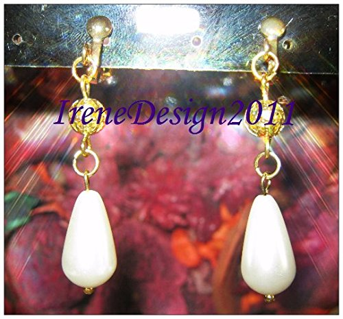 White Pearl Drop & Clip-On