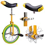 "AW 16"" Inch Wheel Unicycle Leakproof Butyl Tire Wheel Cycling Outdoor Sports Fitness Exercise Yellow Green"