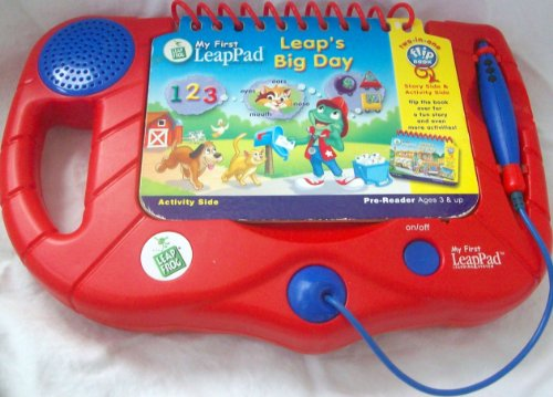 My First Leap Pad Learning System, Red, Leap's Big Day, Pre Reader Ages 3 and Up, Without Cartridge