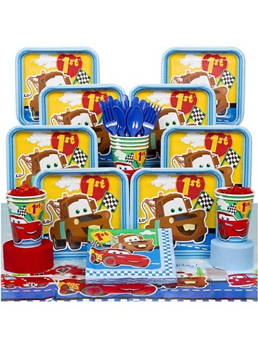 Cars 1st Birthday Party Deluxe Kit