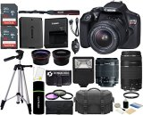 Canon-EOS-Rebel-T6-18MP-Wi-Fi-DSLR-Camera-with-18-55mm-IS-II-Lens-EF-75-300mm-III-Lens-SanDisk-32GB-16GB-Card-Wide-Angle-Lens-Telephoto-Lens-Flash-Grip-Tripod-48GB-Accessories-Bundle