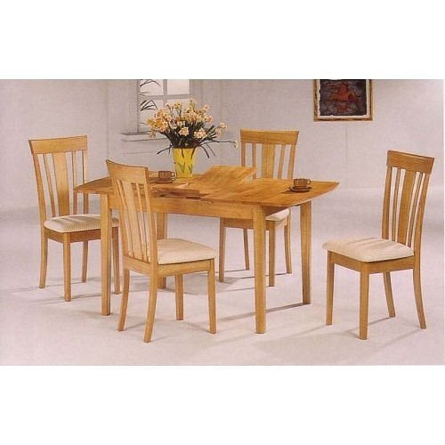Buy Low Price Coaster 7 Piece Solid Wood Butterfly Dining Table \u0026 6 Chairs VF_AZ027614