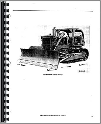 International Harvester TD25C Crawler Parts Manual: Amazon