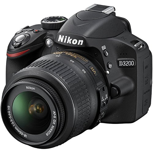 Nikon D3200 24.2 MP CMOS DSLR Camera w/ 18-55mm VR Lens (Black)