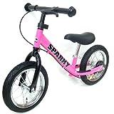 【組立済】【4色から選べる】 ブレーキ付 ペダルなし自転車 キッズバイク SPARKY (PINK)