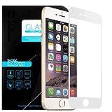 iPhone 6S Glasfolie, EnGive Vollglasfolie iPhone 6S Schutzglas Echtglasfolie Displayschutzfolie Panzerglas (iPhone 6s, Weiß)