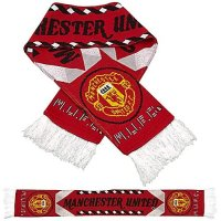 Premiership Soccer Fan Scarf of Manchester United - FOOTBALL