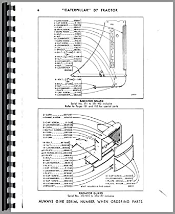 Caterpillar D7 Crawler Parts Manual: Amazon.com