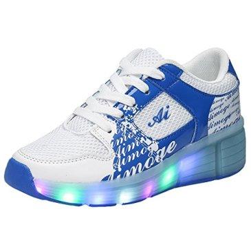 CPS Kids Girls Boys Light Up Wheels Roller Shoes Skates Snea