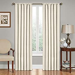 Eclipse Kendall Blackout Thermal Curtain Panel,Ivory,84-Inch