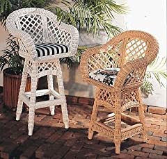 Lanai Wicker Counter Stool (Natural)
