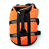 Pet Lifte Preserver - All Sizes - Dog Life Vest Jacket Doggy Life Jacket Orange Large