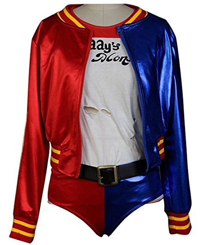 Beauty Costume Suicide Squad Cosplay Costume Harley Quinn Outfit Halloween Suit (L)