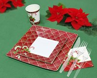 Christmas Disposable Dinnerware for 40 Guests, 280 Pieces ...