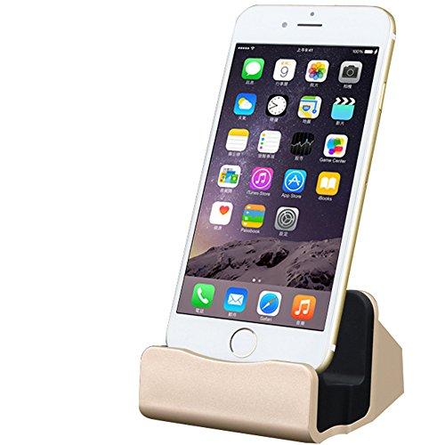 iPhone 充電 卓上スタンド usb ケーブル付き 置くだけ充電 ゴールド