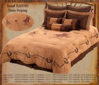 Western Bedding Team Roping 7 Piece Queen | Western ...