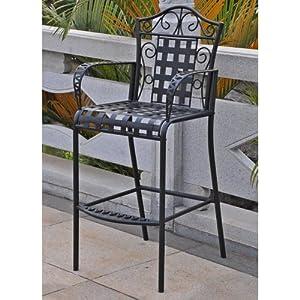 mandalay bar height wrought iron patio chair set of 2 apag 2c