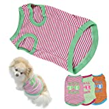 HP95(TM) Hot! Stripe Pet Puppy Summer Shirt Small Dog Cat Pet Clothes Vest T Shirt (S, A)