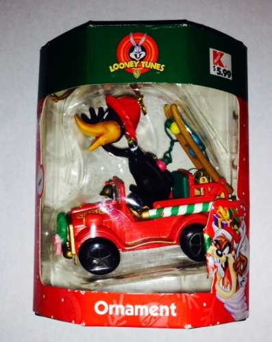 Looney Tunes Daffy Duck Fire Fighter Christmas Ornament