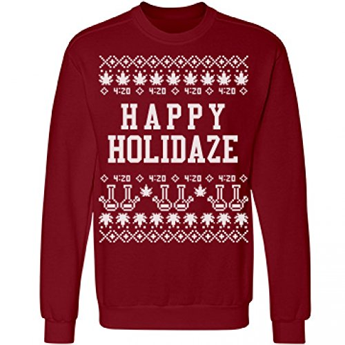 A Cannabis Christmas Sweater: Unisex Anvil Crewneck Sweatshirt