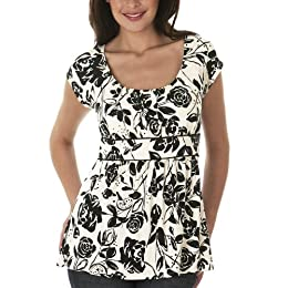 Merona® Scoop Neck Top - Rose Romance/ Ebony