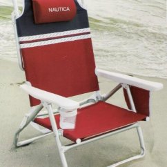 Nautica Beach Chairs Eames Bucket Chair Buy Red Light Weight 5 Position Aluminum Cheap With Neck Pillow