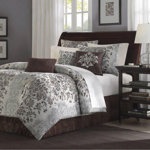 Cheap Cal King Comforter Sets Madison Park Carrington Jacquard 7 pc set Comforter set