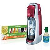 SodaStream Fountain Jet Home Soda Maker Starter Kit, Cherry Red