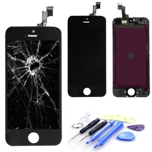 EK 高品質 iPhone 5s タッチパネル 液晶パネルセット 修理パーツ付き 同等品質量 ブラック