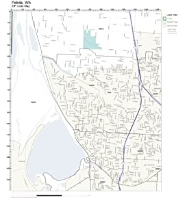 Amazon.com: ZIP Code Wall Map of Felida, WA ZIP Code Map