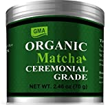 USDA Certified Organic Matcha Green Tea Powder-Cememonial Grade-Vegan, Gluten-free and Non-GMO 2.46oz(70g)